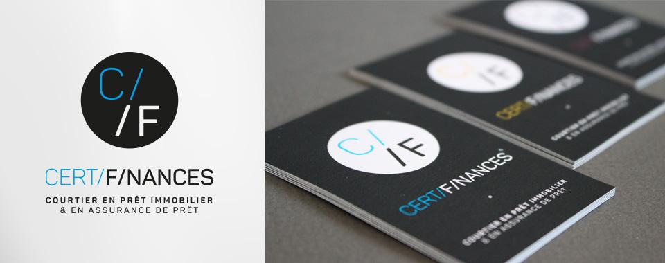 Logotype et cartes de visites pour un courtier en prêt et assurance de prêt