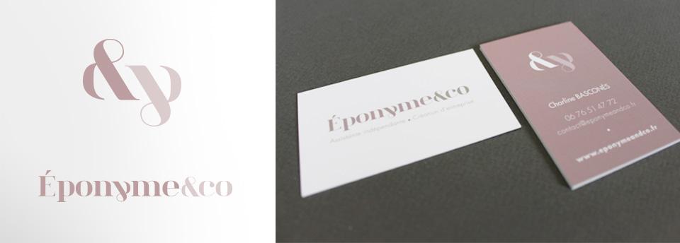 Logo, monogramme, cartes de visites et flyer pour jeune entrepreneuse bordelaise