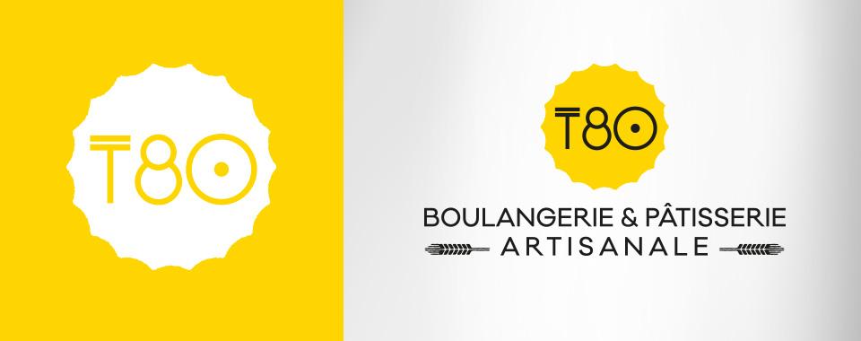 Logotype et identité globale pour Boulangerie Pâtisserie rive droite