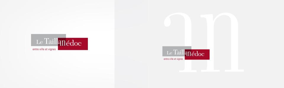 Ville du Taillan Medoc - déclinaison du logotype avec et sans baseline, avec et sans monogramme