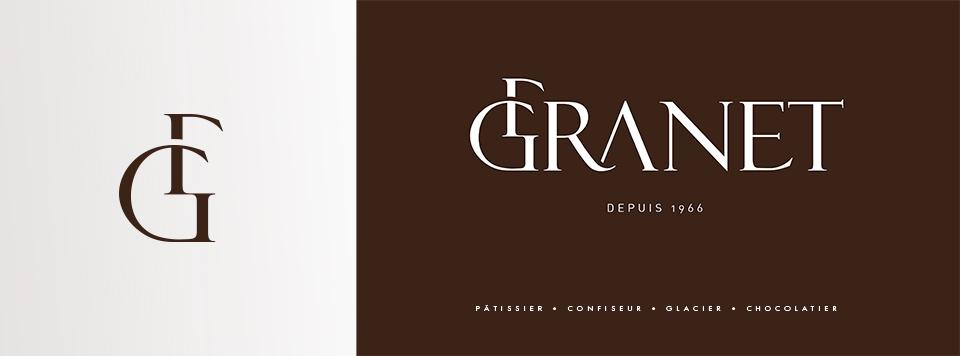 Création d'identité pour la boulangerie et pâtisserie Granet