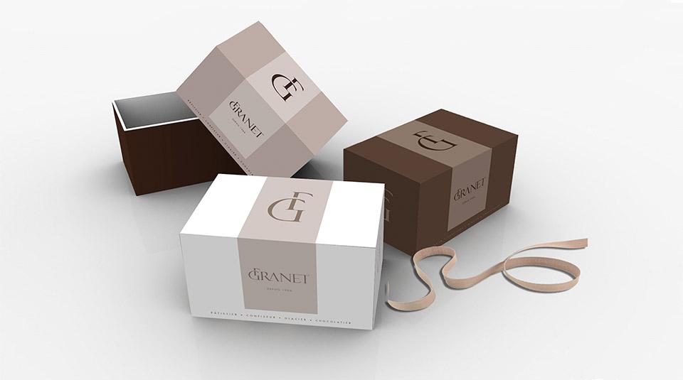 Création de Packagings pour la boulangerie & pâtisserie GRANET