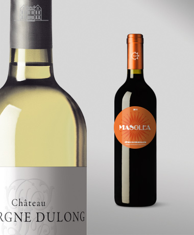 Création d'étiquettes  Vignobles Bordelais & autres régions