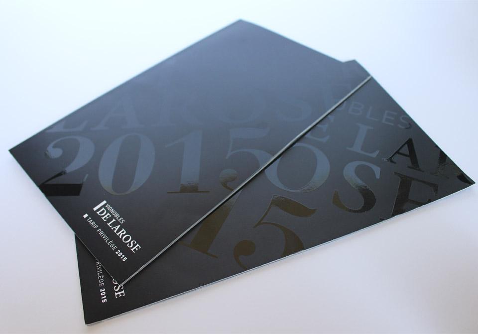 Création et mise en page du catalogue de tarifs 2015 pour le château Larose Trintaudon