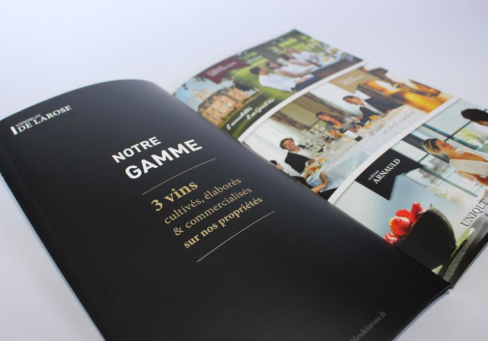 Page de présentation de la gamme des 3 vins du Château